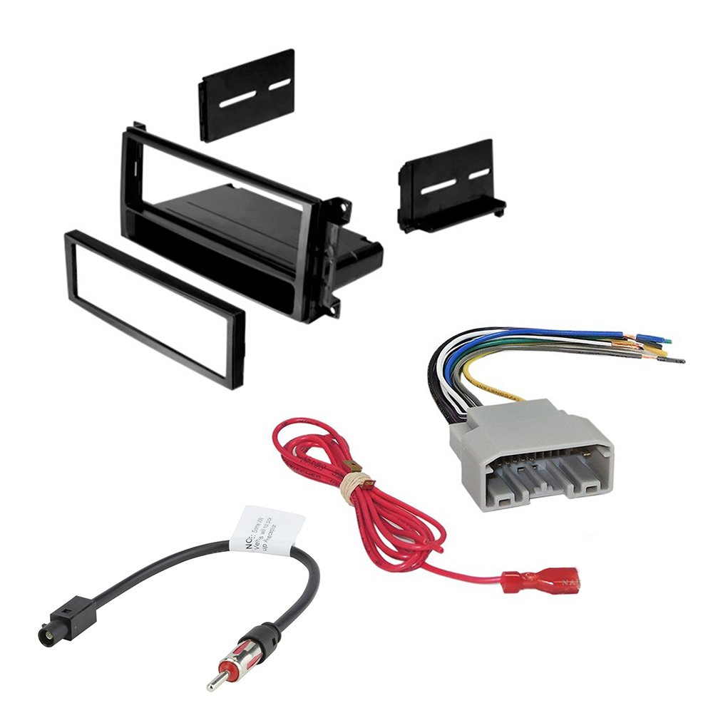hight resolution of car stereo radio cd player receiver install mounting kit wire harness radio antenna adapter for select