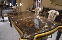 Foshan Long Royal Large Imported Marble Top Dining Table ...
