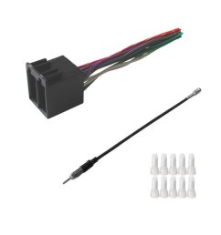 get quotations asc audio car stereo radio wire harness and antenna adapter to install an aftermarket radio for [ 1200 x 1358 Pixel ]