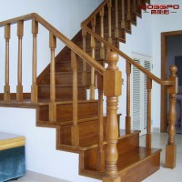 Gsp16-002 Solid Wood Spiral Stairs Indoor Wooden Staircase ...