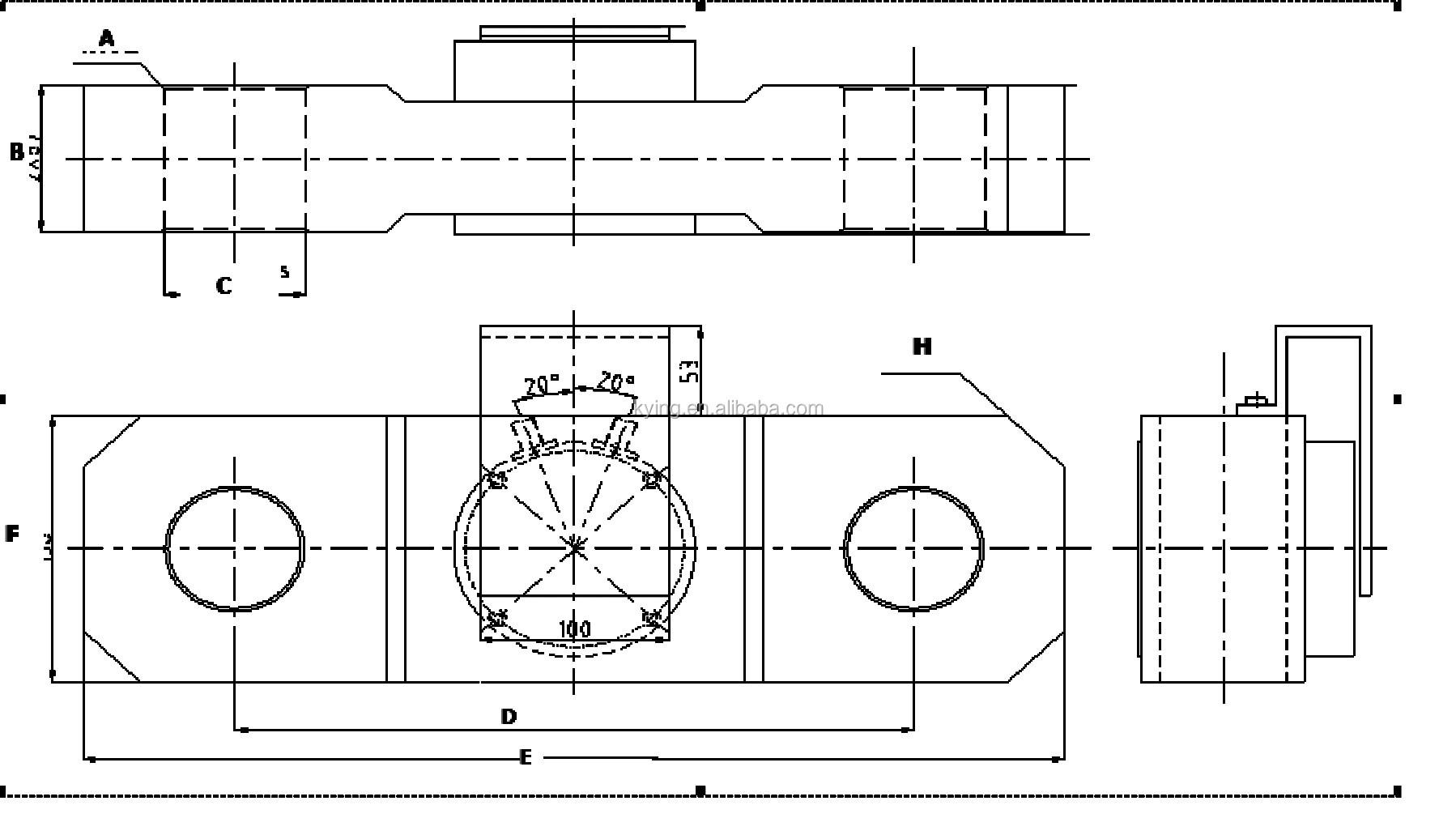 30 Ton Precise Sensitive Zemic Mt1022 Load Cell Load Cell