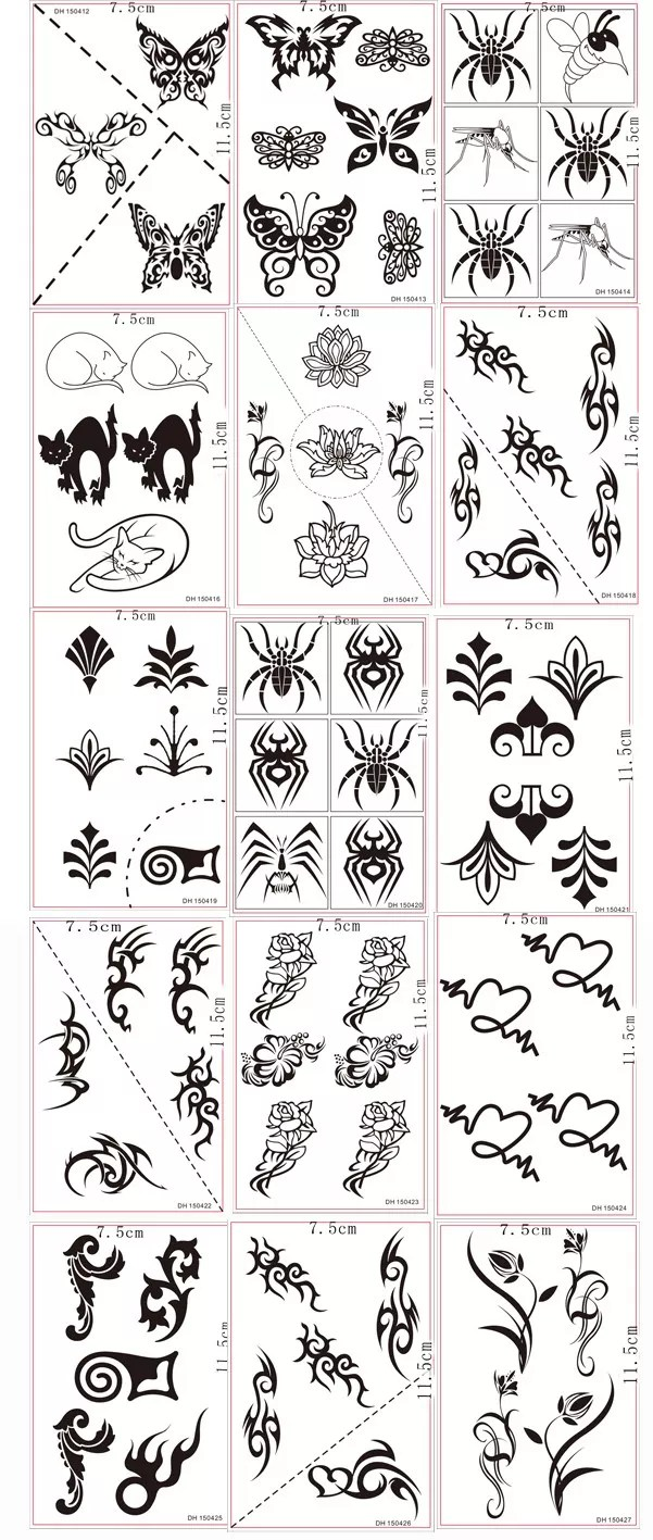 Mejor Diseño Pequeño Tribal Bandas De Brazo Temporal Tatuajes Para
