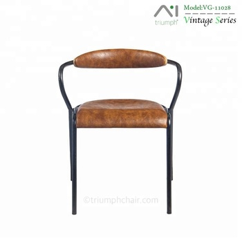 french cafe chairs hook on table high chair australia triumph industrial pu dining antique metal restaurant armchair