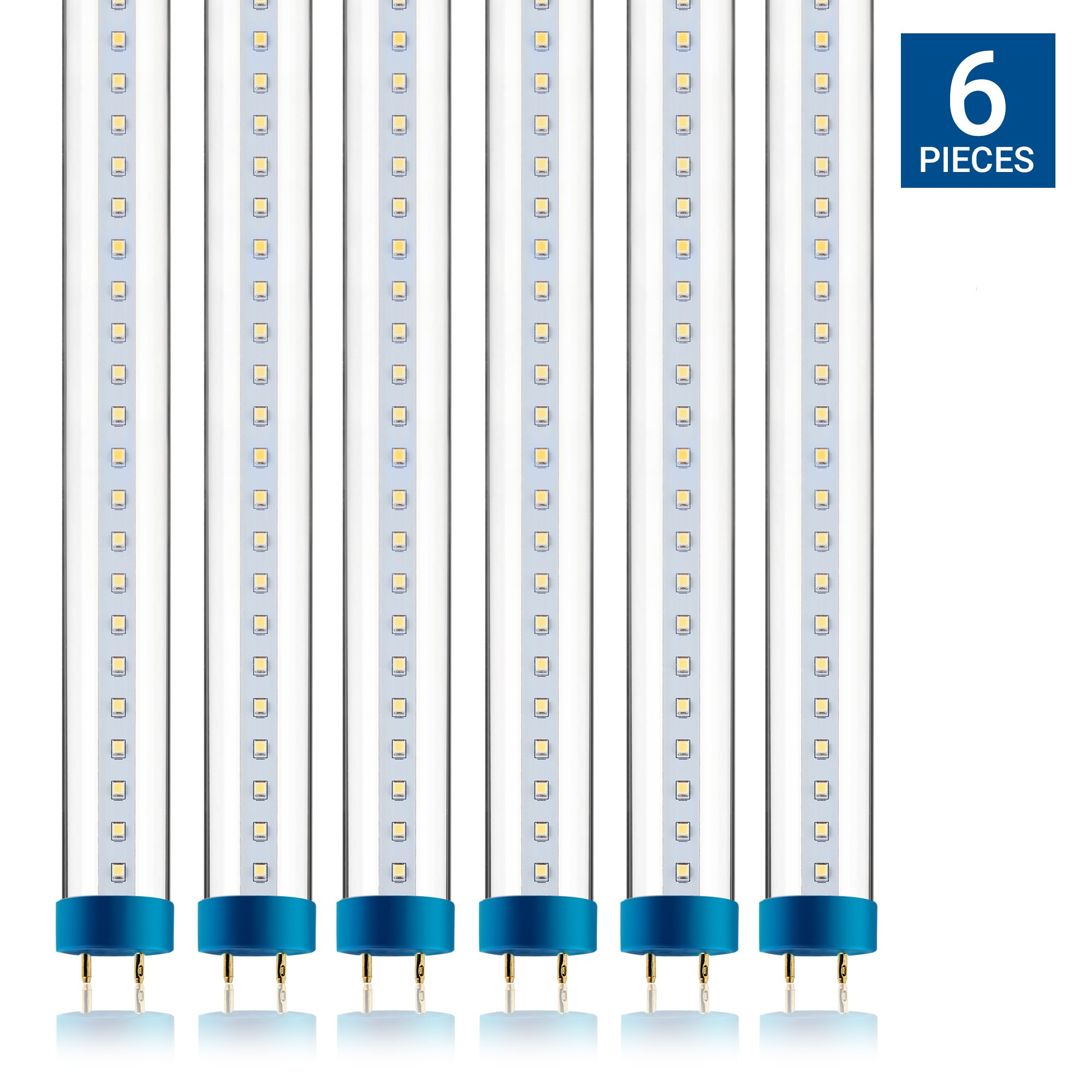 hight resolution of get quotations hyperikon t8 t10 t12 4ft led hybrid tube light plug and play