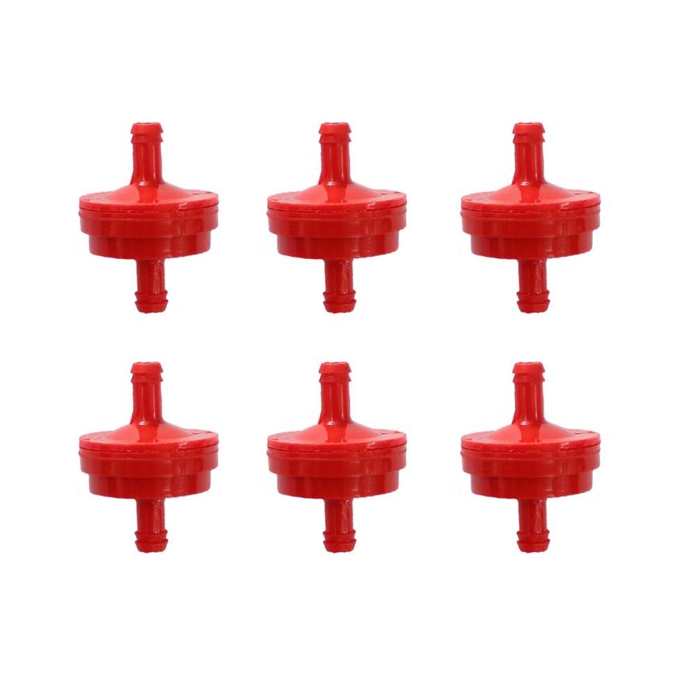 hight resolution of get quotations poweka new pack of 6pcs fuel filter for 1 4 fuel line 150 micron replace