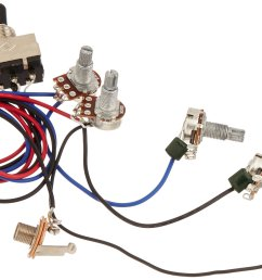 get quotations kmise wiring harness prewired 2v2t 3way toggle switch jack 500k pots for gibson replacement guitar  [ 2419 x 1586 Pixel ]