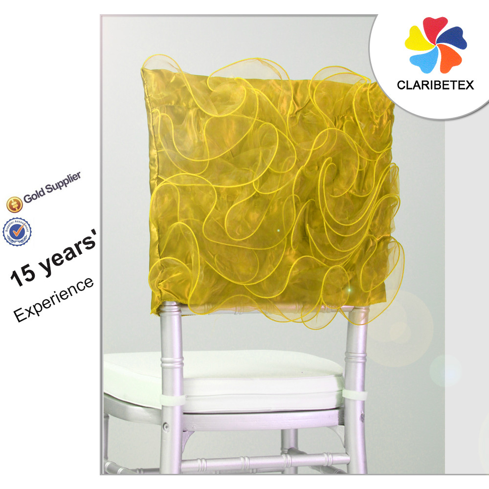 Yellow Chair Covers Yellow Organza Rosette Embroider Chair Cap Chair Covers Buy Rosette Embroider Chair Cap Embroider Chair Cap Covers Organza Chair Cap Product On