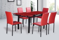 Modern Extendable Tempered Glass Dining Table - Buy Glass ...