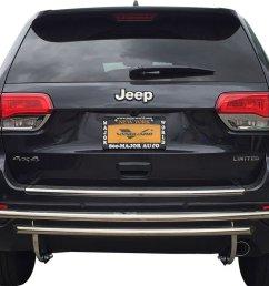 get quotations vanguard 2011 2015 jeep grand cherokee rear bumper guard double layer s s [ 1024 x 768 Pixel ]
