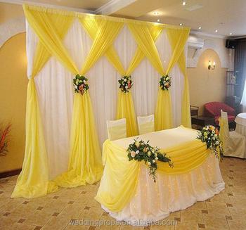 Customize Romantic Backdrop Curtain Drape Fabric Wedding