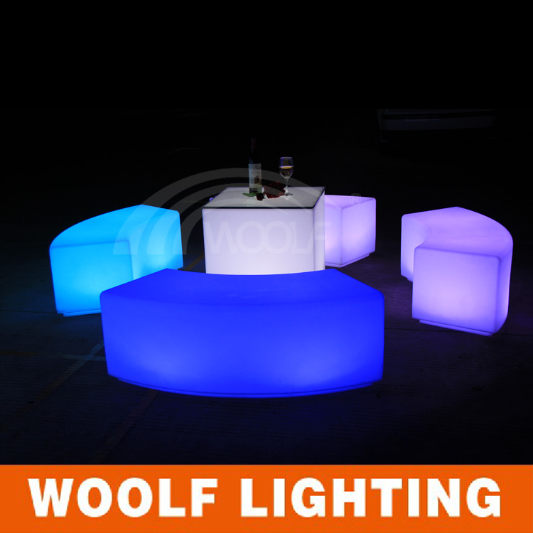 Outdoor Waterproof Plastic Illuminated Led Garden Bench