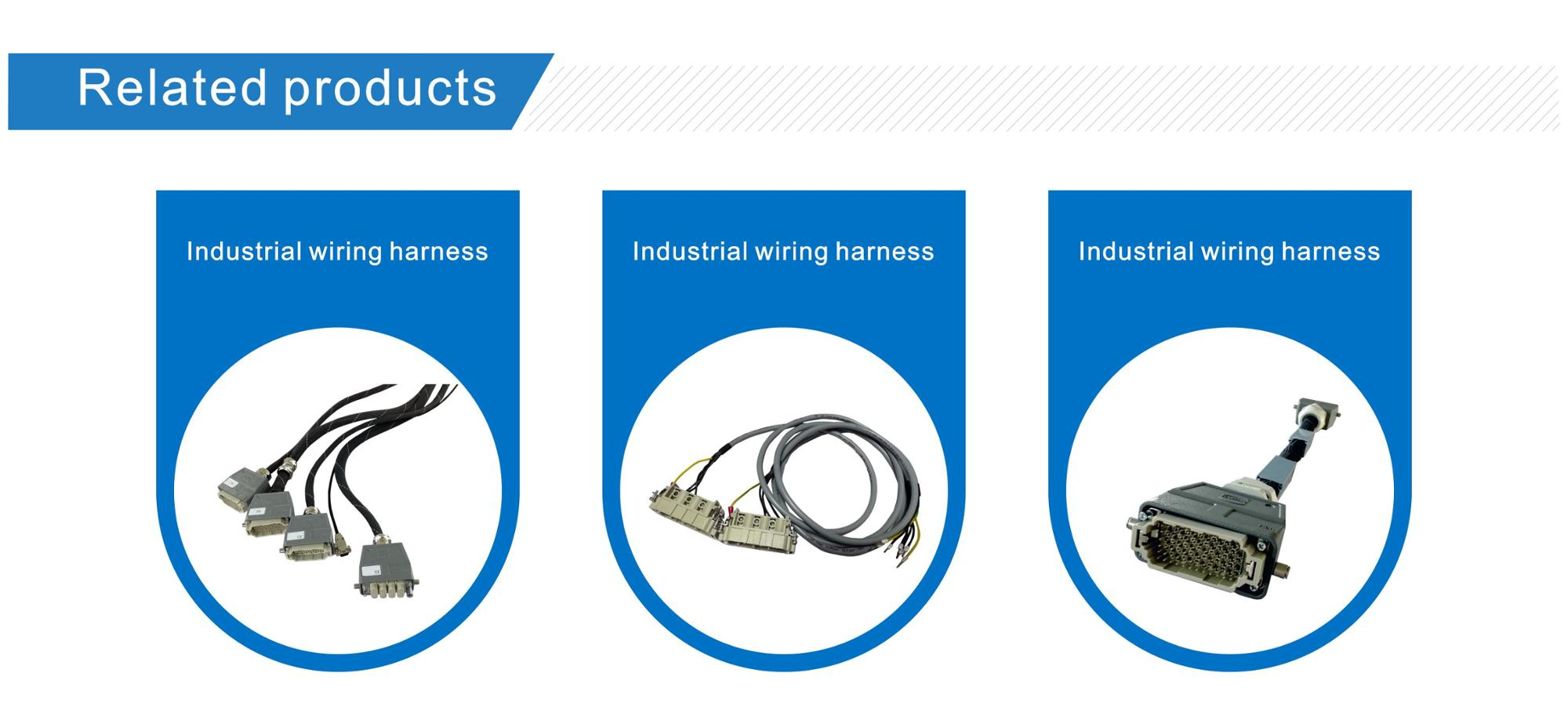 hight resolution of harting han modular rj45 rangierfeld 2p industrial wire harness for industrial robot