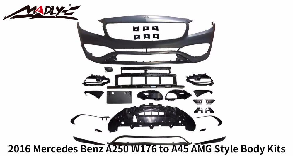 Body Kits For Mercedes Benz A250 W176 Body Kits 2016 Year