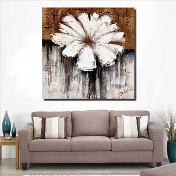 modern big canvas flower