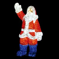 Lighted Santa Claus Outdoor Christmas Decorations - Buy ...