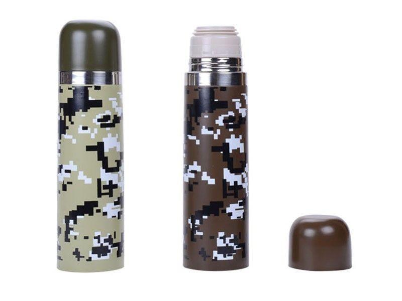 camouflage fiole a vide en acier inoxydable isolation sous vide thermos ballon deau