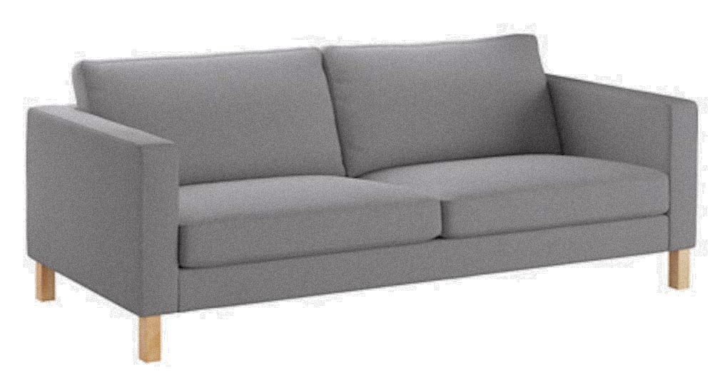 ikea karlstad chair office no wheels arms buy the cover replacement is custom made for heavy cotton 3 seater sofa width 205cm slipcover light gray