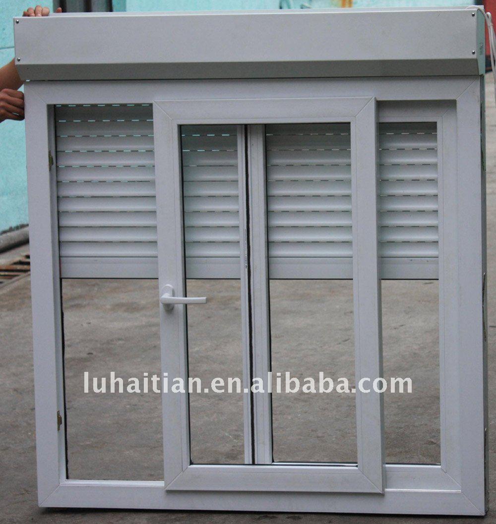 Upvc Glass Windows And Doors With Aluminum Roller Shutter Glass Sliding Window Buy Pvc Windows Interior Shutters Sliding Glass Doors Glass Sliding