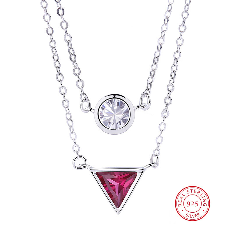 Price Of Gold Per Gram Triangle Ruby Necklace 925 Sterling