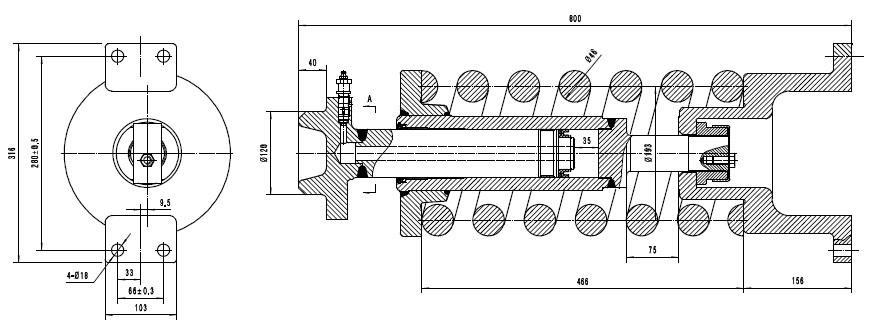 Oem Dimension Zx450/zx450-3 Excavator Track Adjuster Assy