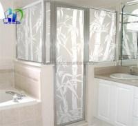 Acid Etched Glass / Living Room Glass Partition Design ...