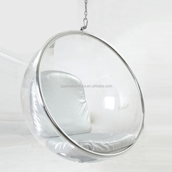 hanging chair clear andy warhol electric triumph acrylic bubble ball retro design