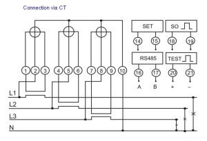 Dtsf866 Three Phase Electric 4 Tariff Meter Multi Price