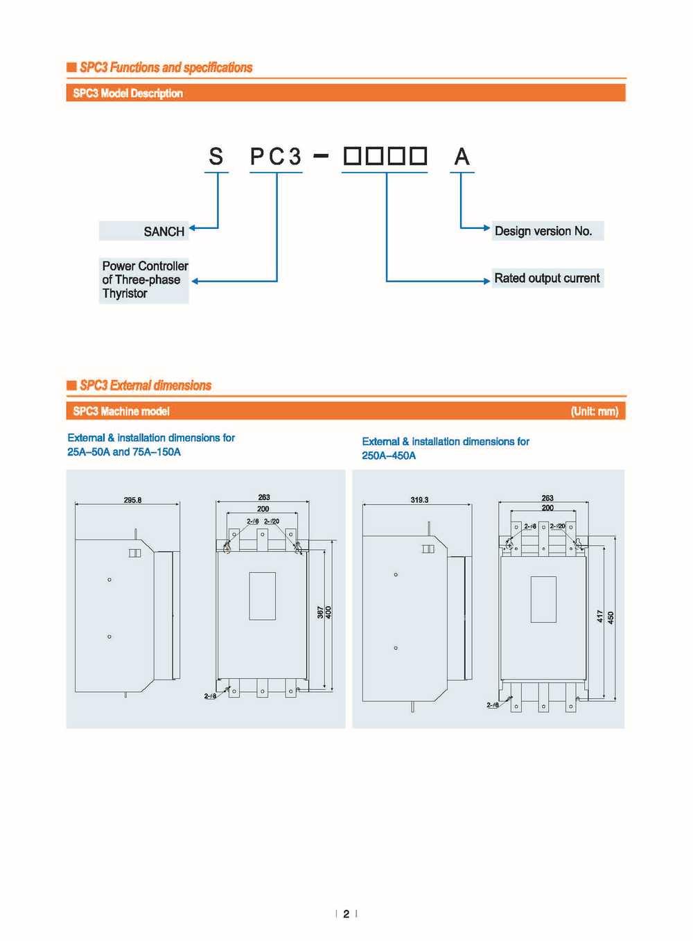 hight resolution of sanch spc3 energe saving full digital 380v 50a 3 phase ac thyristor scr power regulator