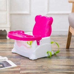 Booster Seat High Chair Velvet Desk Toddlers Portable Plastic Baby For Dining 3 Point Harness Secures