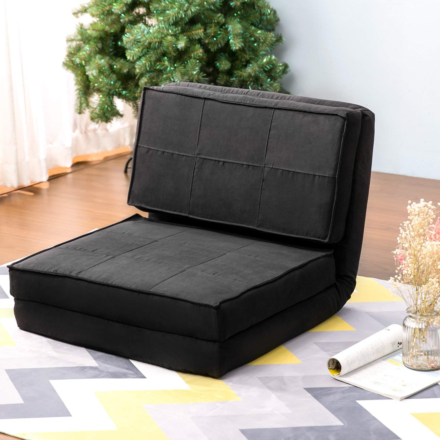 fufsack sofa sleeper lounge chair small room ideas cheap black find deals on line at get quotations harper bright designs convertible futon flip bed couch seating lounger