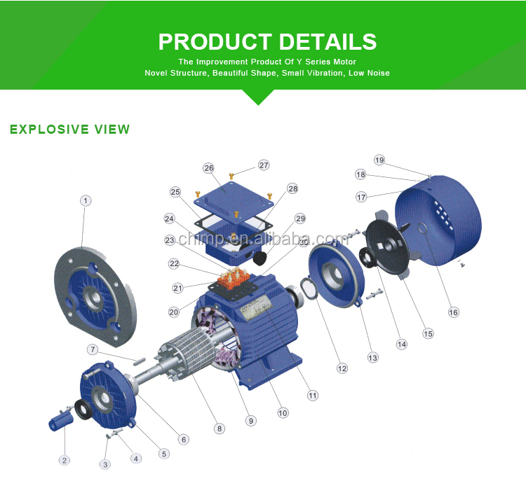 Yd Series 8 6 Pole Three Phase Ac Induction Electric Motor Buy Yd 8