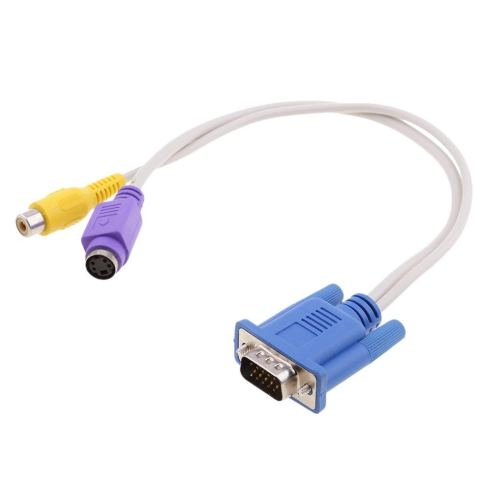 small resolution of get quotations monkeyjack vga to tv converter cable 15 pin sub d vga to rca s