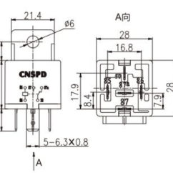 12v 30a Relay 4 Pin Wiring Diagram Kia Sorento 24v 40a 5 Electrical Universal Car Truck Automotive 3