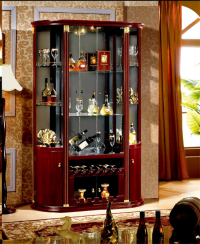 Semi Circle Glass Home Bar Cabinet Design - Buy Cabinet ...