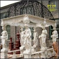 European Style Pavilion Modern Garden Stone Pillar Gazebo ...
