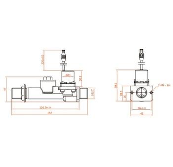 6v Latching Valve Sanitary Fitting Pneumatic Solenoid