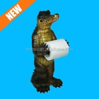 Hand Painted Alligator Toilet Paper Towel Holder Stand ...