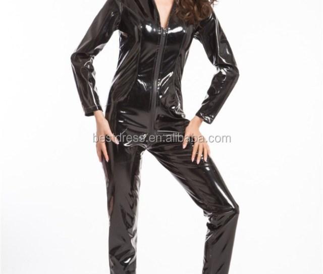 Plus Size Sexy Lingerie Latex Pvc Leather Jumpsuit Sexy Costume Black Women Catsuit Clubwear Bodysuit Pole Dance Clothes Buy Fancy Dress Costumes
