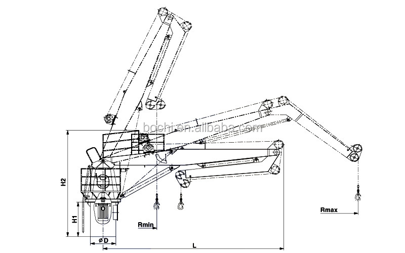 Marine Hydraulic Knuckle Boom Crane, View knuckle crane