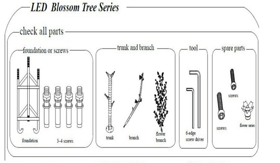 diagram the parts of cherry blossom tree deutz 2016 wiring artificial flowers light up trees buy