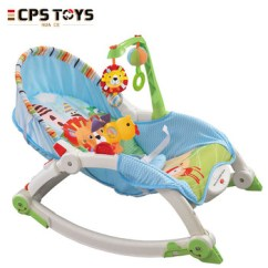 Baby Sleeping Chair Grey Nailhead Dining Poland New Style Cotton Vibration Rocker Swing In Colorful Cartoon Design