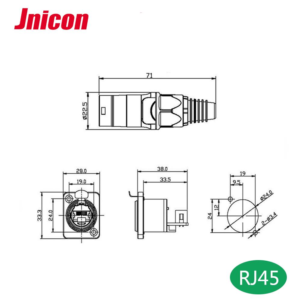Powercon And Rj45 Ethercon Connectors Indoor And Outdoor