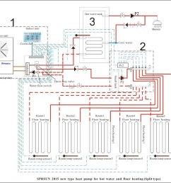 evi split system heat pump air heating pump hot water and floor heating  [ 1000 x 880 Pixel ]
