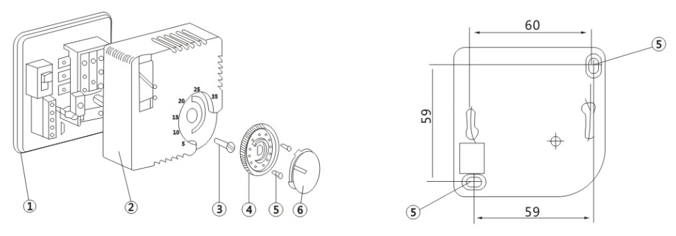 Room Thermostat For Heating And Air-conditioning (wst-7000