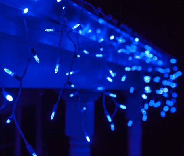 Get Quotations  C B  M Blue Led Icicle Lights   White Wire Outdoor Christmas Lights Outdoor