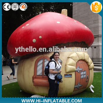 Giant inflatable mushroom tent for kids/inflatable
