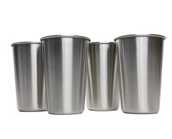 1 Piece Stainless Steel Pint Cups Large/Small Durable Kids Cup Metal Tumblers Juice Cocktail Iced Tea Cup Home Bar Camping Drinking Mugs