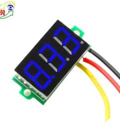 rd 0 36 3 wires 3 digit dc 0 33 0v voltage digital panel meter mini voltmeter [ 1000 x 1000 Pixel ]