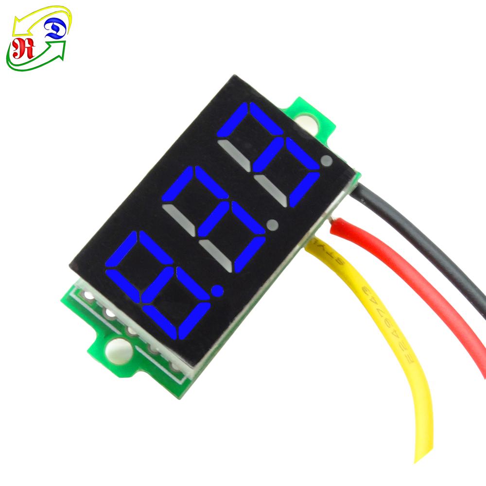 hight resolution of rd 0 36 3 wires 3 digit dc 0 33 0v voltage digital panel meter mini voltmeter