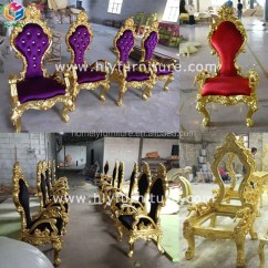 Alibaba Royal Chairs Seat Pads For Wicker Rental Luxury High Back Gold Antique Queen Wedding Sexy Sofa Wooden Bride And Groom Double